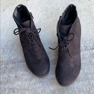 3/$25 Black Wedge Ankle Booties